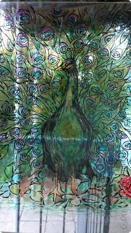Вторая моя работа витражными красками, а стекле в коридоре. Не знаю как он перенесет морозы. фото 2