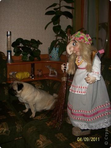 Первая моя каркасная кукла. Рост 85 см. фото 2