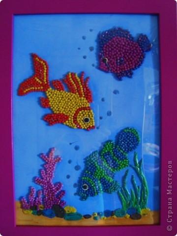 "Картина ""Рыбки"" из пластилина"