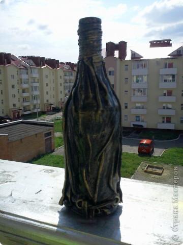 Бутылка кожей фото 6