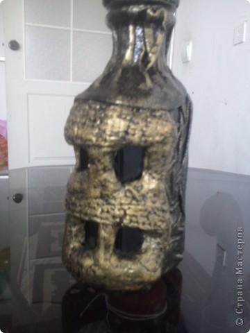 Бутылка кожей фото 1