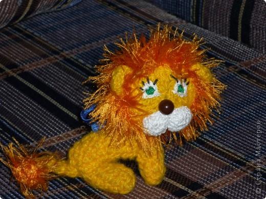 Львёнок.Связан  крючком, на каркасе. фото 1