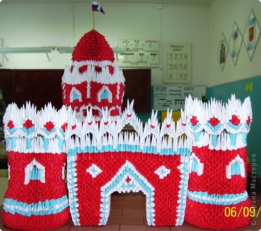 Модульное оригами кремль схема сборки