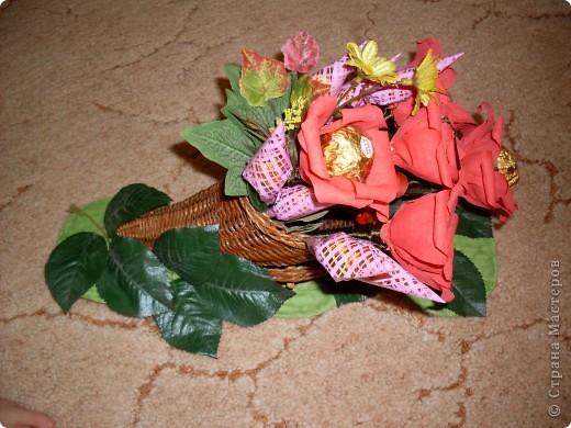 Вот такой рог изобилия был подарен на День 70-летия моей дорогой бабуле! фото 1