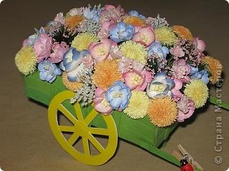 Візочок з квітами))) фото 1