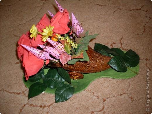 Вот такой рог изобилия был подарен на День 70-летия моей дорогой бабуле! фото 3
