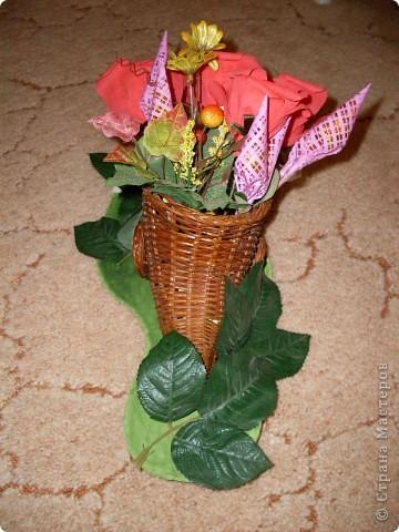 Вот такой рог изобилия был подарен на День 70-летия моей дорогой бабуле! фото 4