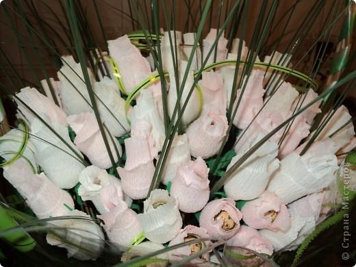 Моя первая работа в технике свит-дизайн. Очень понравилось делать розы. Теперь хочу попробовать другие букеты с другими цветами. фото 4