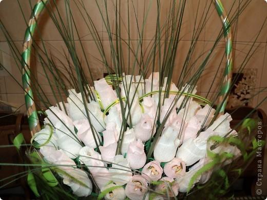 Моя первая работа в технике свит-дизайн. Очень понравилось делать розы. Теперь хочу попробовать другие букеты с другими цветами. фото 6
