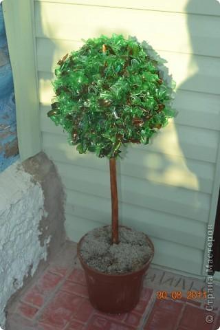 Венок и дерево для украшения крыльца на даче. Не боится не дождя не солнца. фото 5