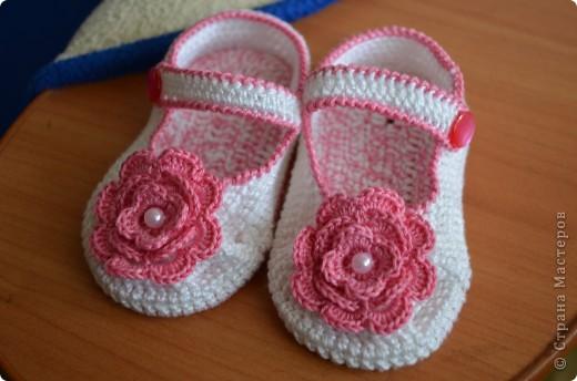 Еще одни пинетки-туфельки для нашей подружки!!! фото 3
