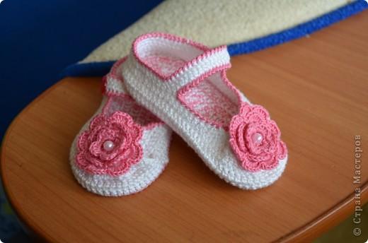 Еще одни пинетки-туфельки для нашей подружки!!! фото 1