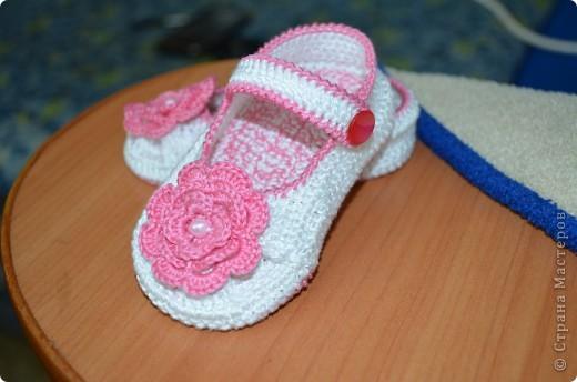 Еще одни пинетки-туфельки для нашей подружки!!! фото 2
