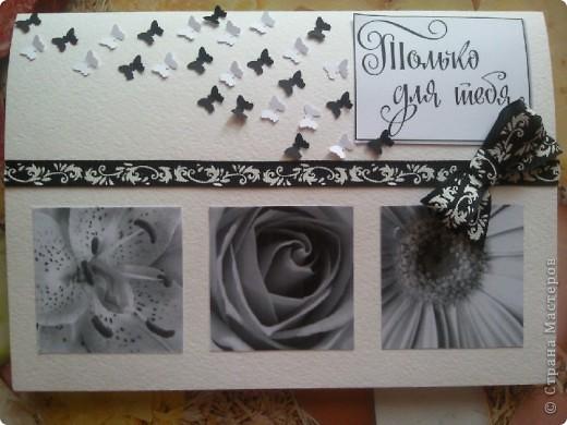 Почему то опять получилась в черно-белом варианте....классика. И бабочки порхают )))) фото 1