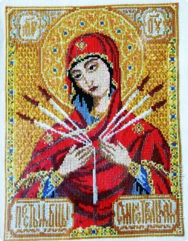 Икона Богоматери Семистрельной фото 1