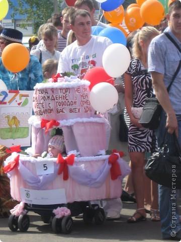 Наш торт - коляска готов фото 3
