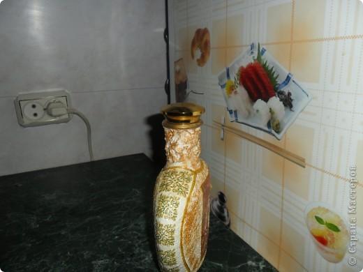 Бутылка с использованием присланных салфеток. (салфетки). Спасибо, Марковна фото 3