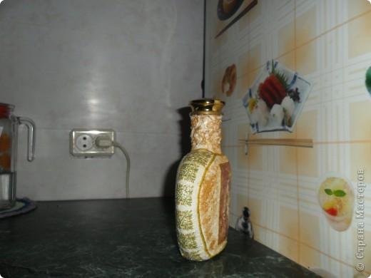 Бутылка с использованием присланных салфеток. (салфетки). Спасибо, Марковна фото 2
