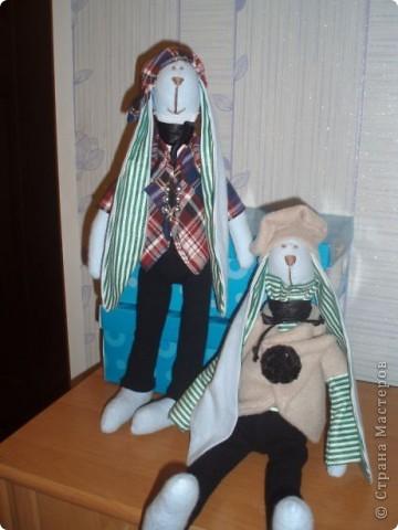 Зайцы, зайцы, зайцы..... Не могу от них оторваться! Два друга с одинаковыми ушами и мечтательными мордочками. фото 2