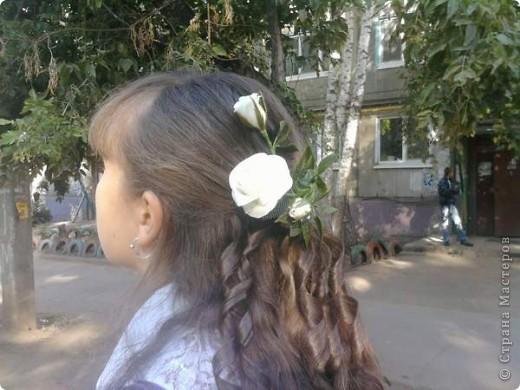 Решила к 1 сентября старшей доченьке сделать подарок, заколку, чтобы была самая-самая красивая. фото 1