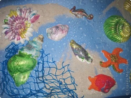 Вот такой подводный мир  создали  мы с детками (3-6 лет) фото 2