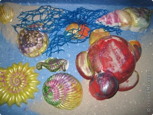 Вот такой подводный мир  создали  мы с детками (3-6 лет) фото 3
