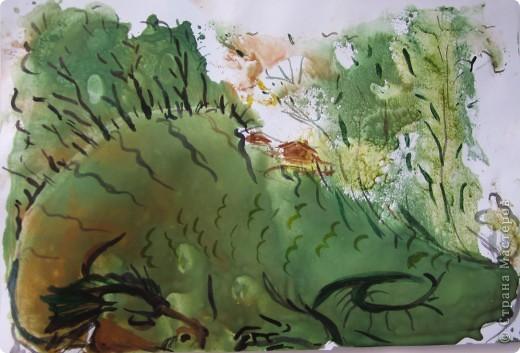 Рисунок ватными палочками на цветном картоне. фото 3