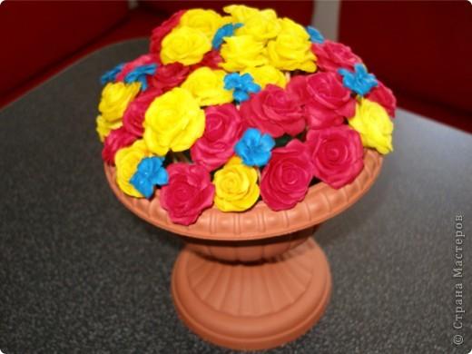 Горшочек роз фото 1