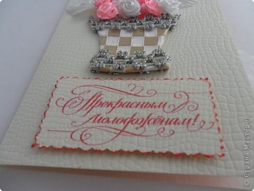 Были заказаны 2 открытки на одну и ту же свадьбу. Понравилась моя работа по  мотивам работ Елены Милбрадт http://stranamasterov.ru/node/131680 Подавай сердечки, и все тут! Пришлось подумать, чтобы открытки получились совсем разными фото 2