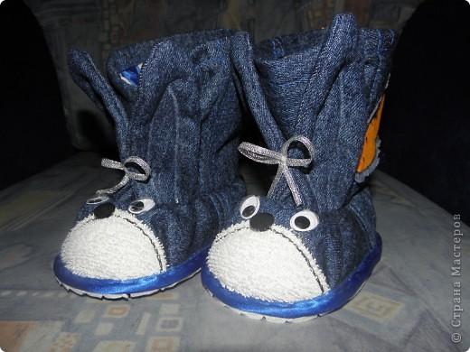 Тапочки сапожки своими руками из джинсов