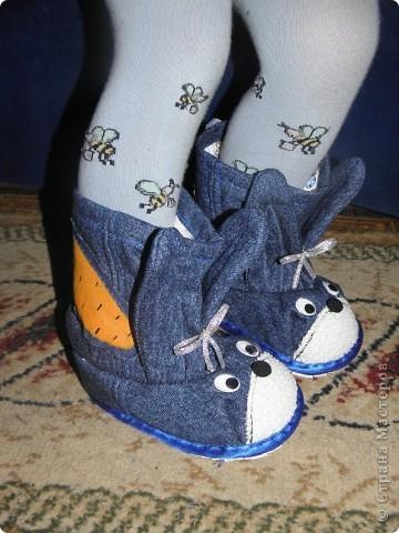 Вот мои новые топотушки-валеночки. Это делала на заказ для трехлетнего мальчугана. Очень надеюсь, что понравятся. фото 5