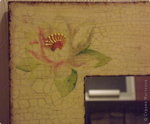 Зеркало Икеа, 2 салфетки, кракелюр, битумный лак, золотой контур... фото 2