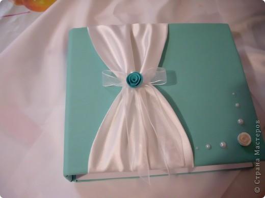 Маленький наборчик - казна и книга пожеланий. Цвет по желанию молодых.   фото 5