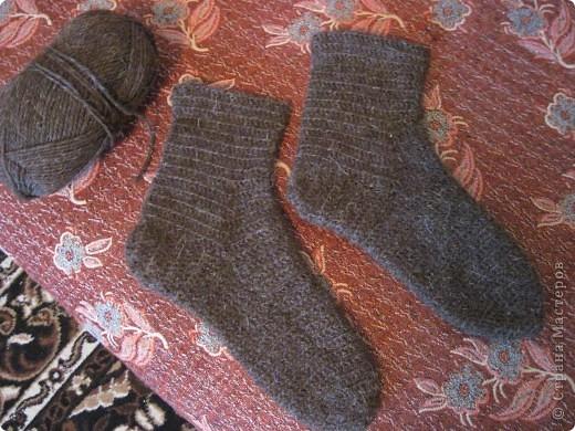 Теплые носки для папы крючком фото 1