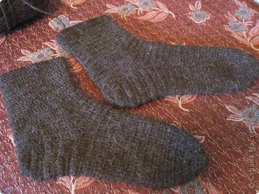 Теплые носки для папы крючком фото 3