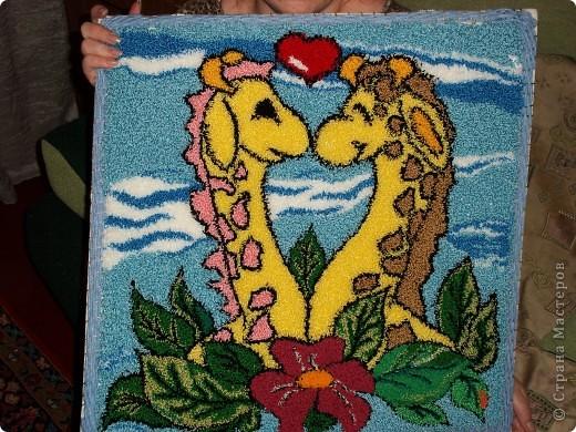 Первая ковровая вышивка. фото 2