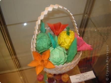 """Популярность модульного оригами набирает обороты. Вот ещё несколько работ на ваш суд.  """"Цветочная композиция"""" фото 2"""