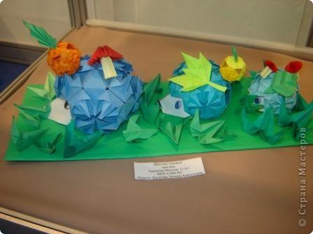 """Популярность модульного оригами набирает обороты. Вот ещё несколько работ на ваш суд.  """"Цветочная композиция"""" фото 3"""