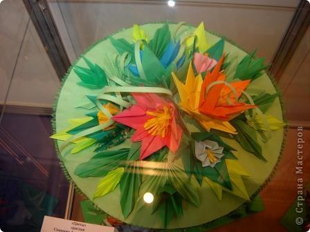 """Популярность модульного оригами набирает обороты. Вот ещё несколько работ на ваш суд.  """"Цветочная композиция"""" фото 4"""