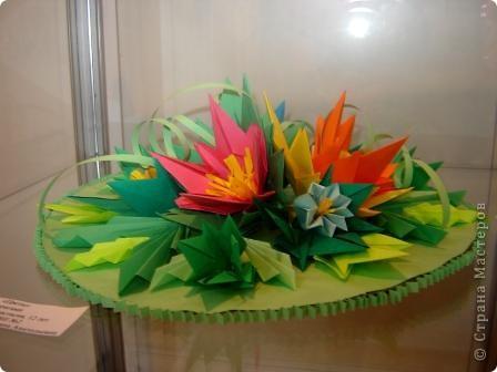 """Популярность модульного оригами набирает обороты. Вот ещё несколько работ на ваш суд.  """"Цветочная композиция"""" фото 5"""
