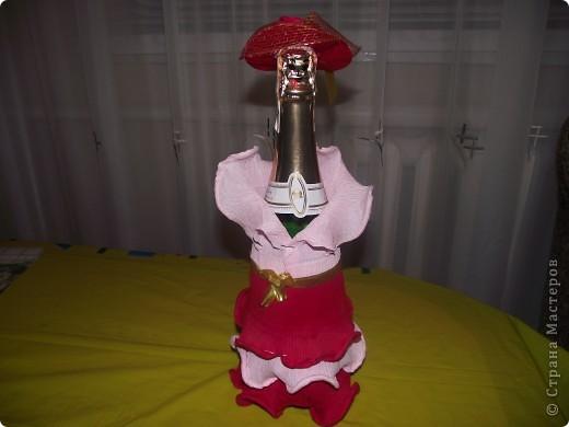 Моя первая работа по декору бутылки фото 1