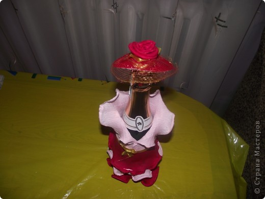 Моя первая работа по декору бутылки фото 2