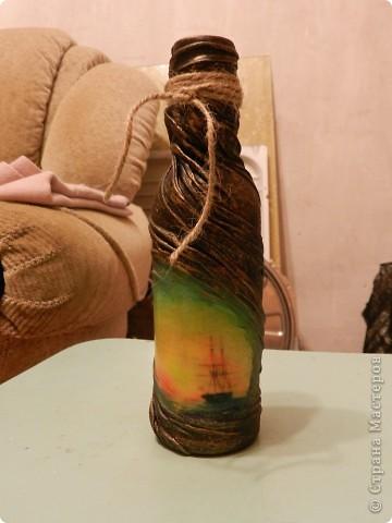 """Моя первая """"пиратская"""" бутылочка,в подарок любимой сестре!)"""