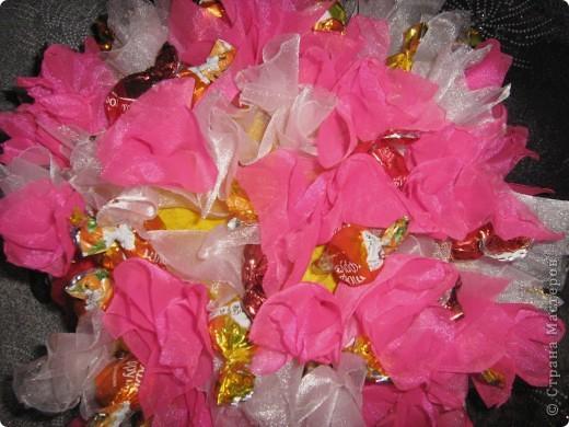 Спасибо Свет9 за понятный МК ёжика http://stranamasterov.ru/node/229835. Соорудила маме на день рожденья. Опыт показал, что конфет надо в 2 раза больше (в процессе съедаются). фото 3