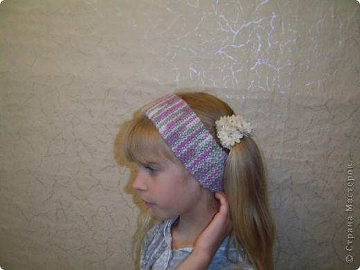 Вяжется шапочка очень быстро и дочери очень понравилась. Научилась такой вязке у Елены  http://stranamasterov.ru/node/108869  Шарфик вязанный из пряжи Angora RAM.  фото 5