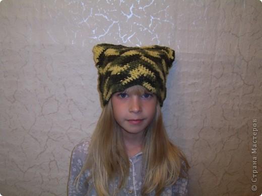 Вяжется шапочка очень быстро и дочери очень понравилась. Научилась такой вязке у Елены  http://stranamasterov.ru/node/108869  Шарфик вязанный из пряжи Angora RAM.  фото 1