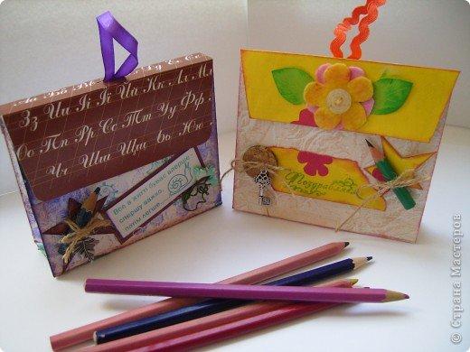 В одном из блогов был МК по созданию упаковки - портфеля. Вот мой.  фото 9