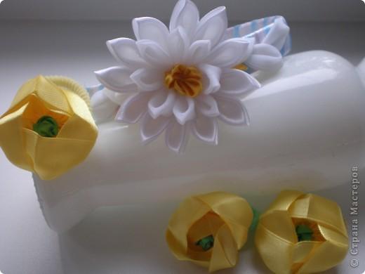 Что задумала, то и получилось. Водяные лилии и кубышки желтые. Канзаши так увлекли, что хочется делать еще, еще. фото 7