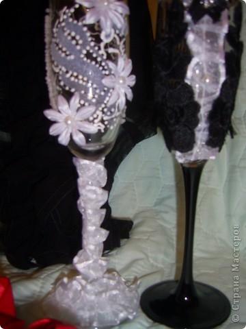 свадебные фужеры (невеста и жених) фото 1