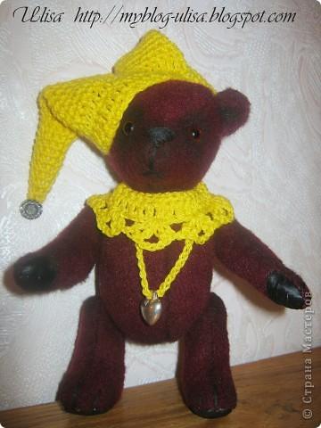 Мой первый мишка Тедди - Арлекино ! фото 9